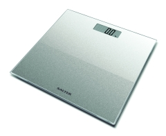 Salter Silver Glitter Glass Electronic Personal Scale