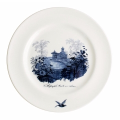 Aynsley Archive Blue Arbour Plate 8""