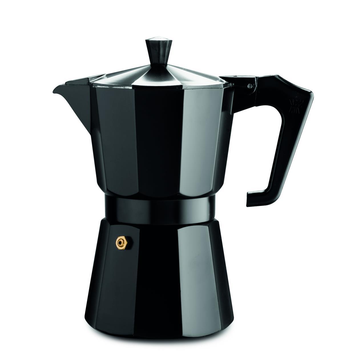 Pezzetti Black Italexpress Aluminium Coffee Maker 6C Kerr Cowan