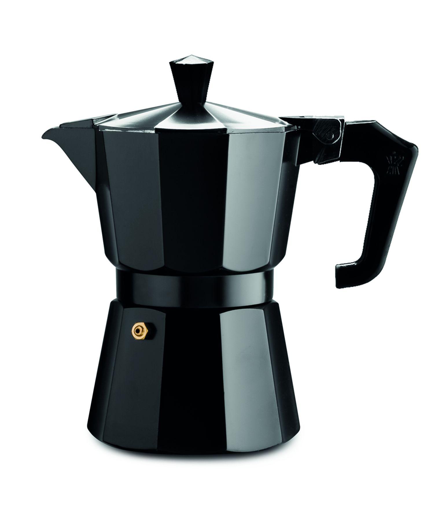 Pezzetti Black Italexpress Aluminium Coffee Maker 9C Kerr Cowan