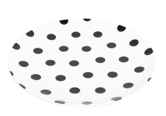 Jab Black Dots Coupe Plate 25cm