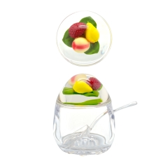 Acrylic Jam Pot with Mixed Fruits Lid