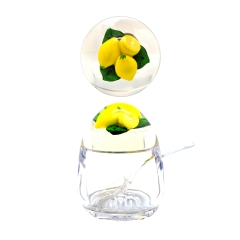 Acrylic Jam Pot with Lemon Lid